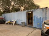 STEEL CONTAINER,  40', OFFICE & STORAGE SPACES (1/2 & 1/2), WIRED OFFICE AN