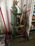 WELDING CART WITH TANKS, HOSES, & TORCH