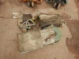 LOT OF RECOVERY STRAPS, CLEVIS AND MISC.