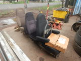 (3) AIR RIDE TRUCK SEATS, STEERING WHEEL AND MISC