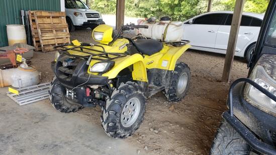 2003 SUZUKI VINSON QUAD RUNNER 500 FOUR WHEELER ATV, 2209 miles  4X4, WINCH