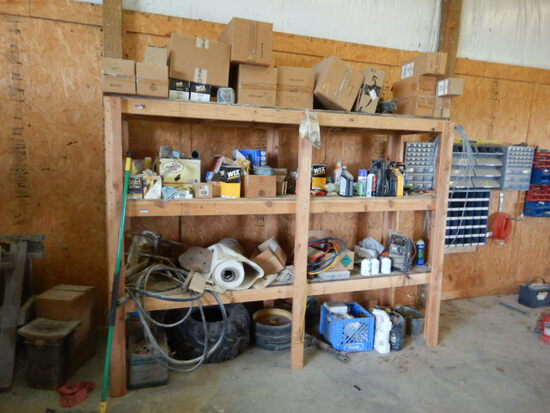 FILTERS, OIL, AND MISCELLANEOUS  LOCATED ON AND UNDER SHELF