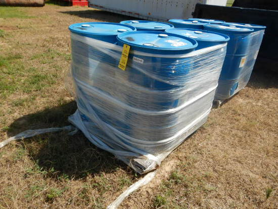 PALLET WITH (4) 55-GAL DRUMS OF DETERGENT
