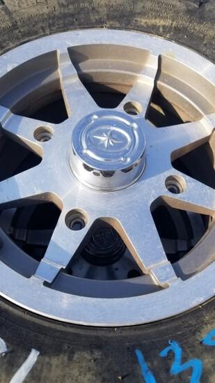 (4) 26 X 9 - 12 ATV TIRES  ON ALUMINUM RIMS