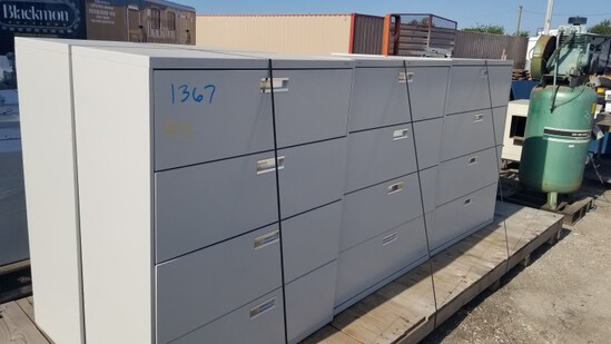 LOT OF LARGE FILING CABINETS