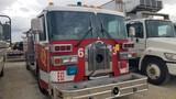 1992 SUTPHEN DELUGE PUMPER FIRE TRUCK, 87,891+ mi, 713+ hrs,  CREW CAB, SIN