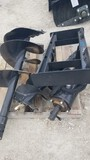 WOLVERINE HYDRAULIC AUGER,  WITH (2) BITS, FOR SKID STEER, NEW / UNUSED