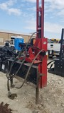 SHAVER HD-10 HYDRAULIC POST DRIVER,  SKID STEER Q/C PLATE, SELLER STATES HE