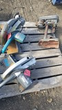 LOT OF TABLE SAWS AND DRILL