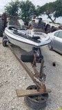 SKEETER BASS BOAT,  TROLLING MOTOR, SUZUKI 85 OUTBAORD, WITH TRAILER