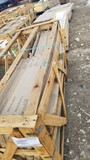 CRATE WITH/ MARBLE/STONE  LARGE DRESSER/DESK TOP 79