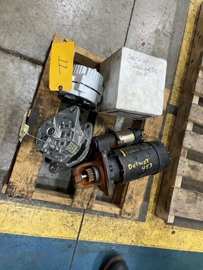 (3) Alternator(s)  12volt/Detroit 453/Kershaw 26 & (1) Starter motor 12 vol