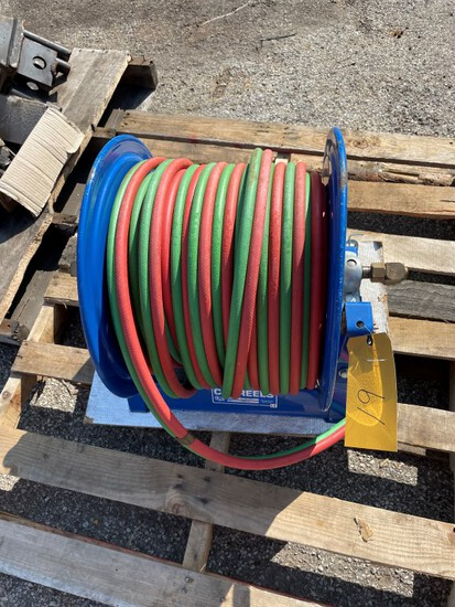 (1) Cox Torch hoses reel 100', New with hoses, Crank retract, LOAD OUT FEE