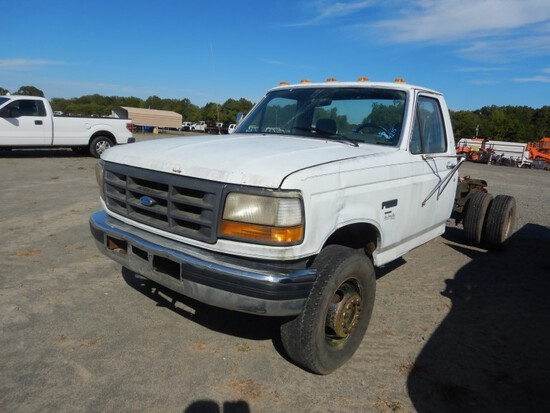 1993 FORD F SUPER DUTY PICKUP CAB & CHASSIS, n/a  7.3 TURBO DIESEL, 5 SPEED