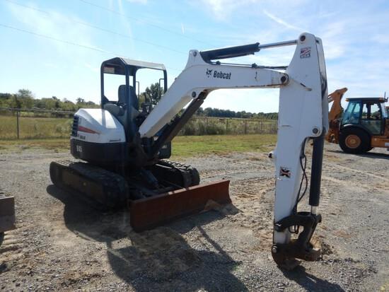 2013 Bobcat E45 Mini Excavator, Rubber Tracks, Hyd Blade, Approx 3,000 Hour