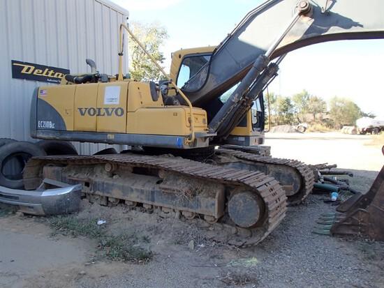 2005 Volvo EC210BLC Excavator, Cab, Aux Hyd, S#EC210V14939 – Motor Doesn't