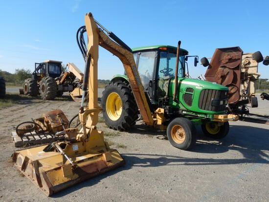 2011 John Deere 6330 Mowing Tractor, Cab, AC, 2WD, 460/85R34 Rear Tires, 3