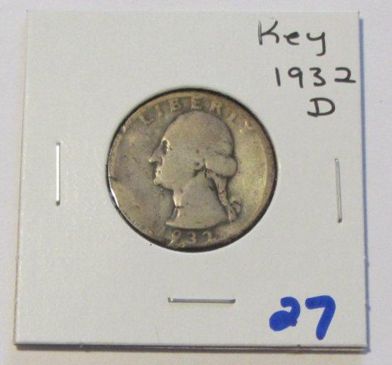 KEY DATE 1932-D QUARTER