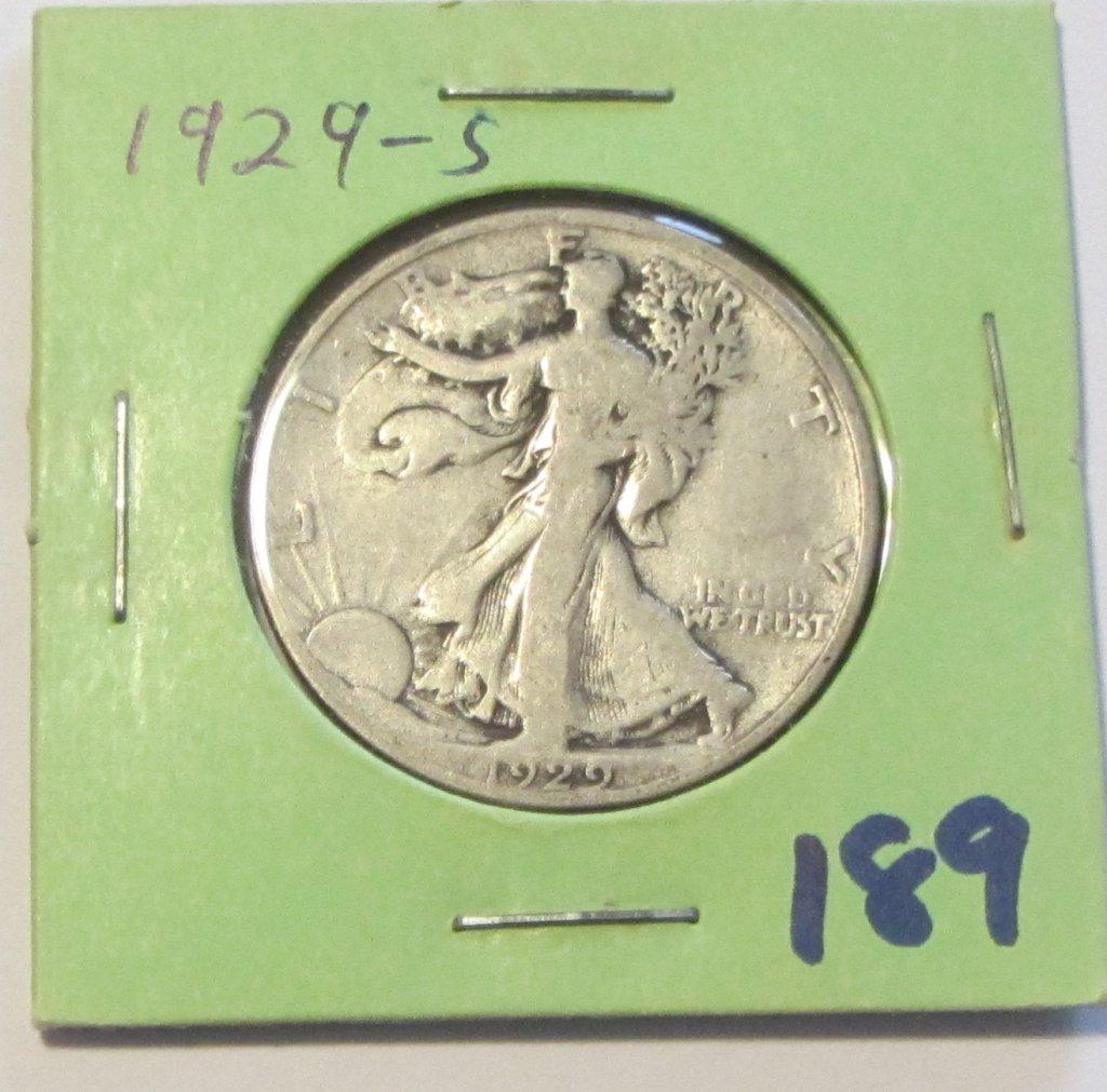 1929-S WL HALF DOLLAR