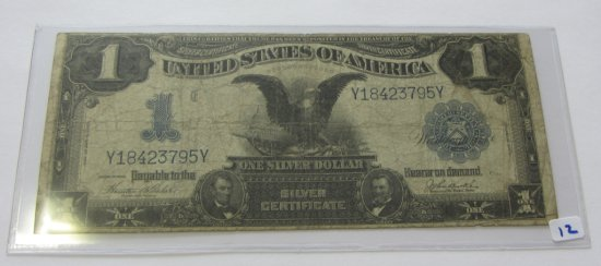 $1 BLACK EAGLE SILVER CERTIFICATE 1899 DATE RIGHT