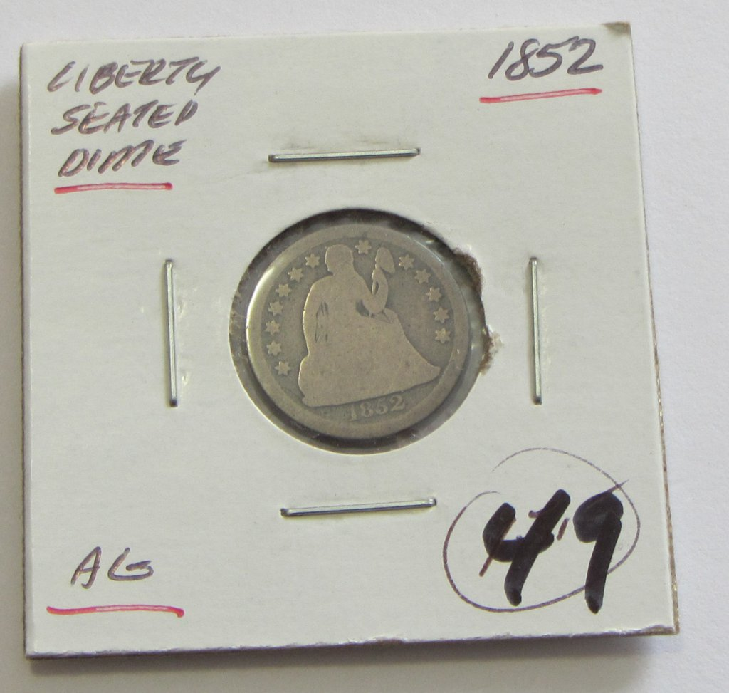 1852 SEATED DIME