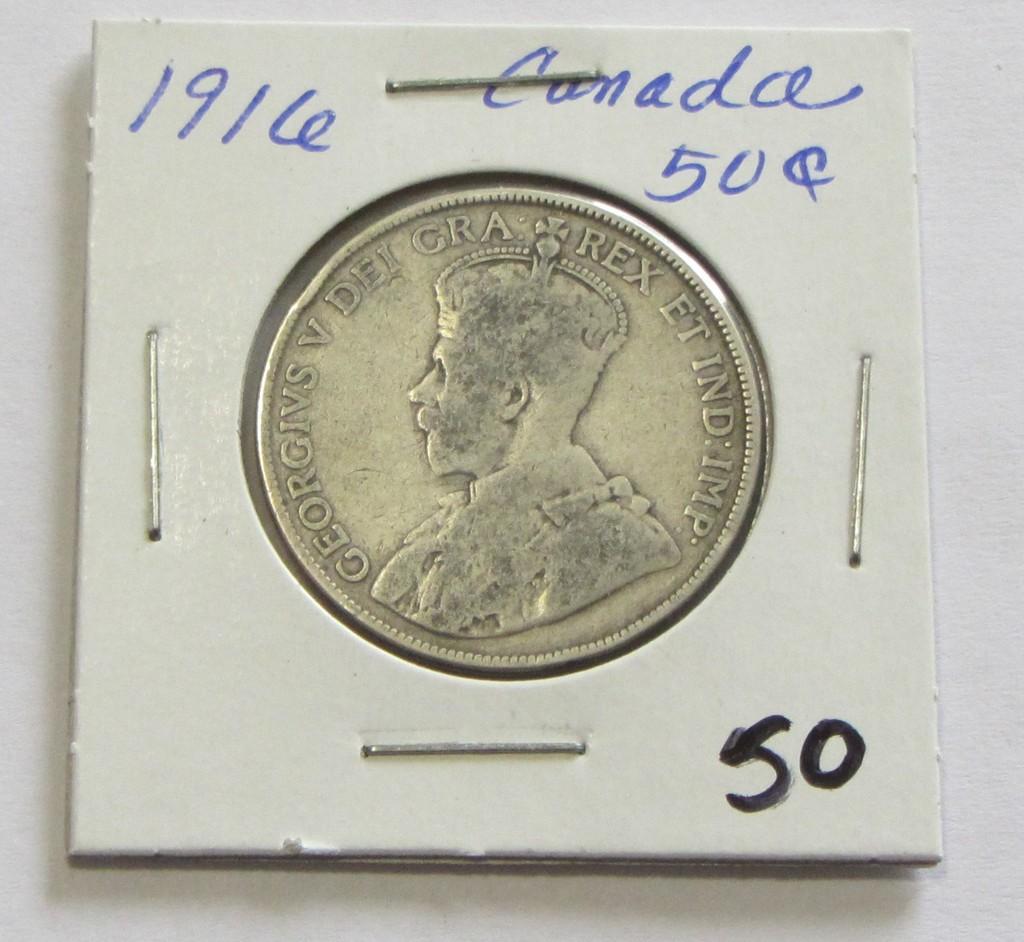 1916 Canada Silver 50 Cent