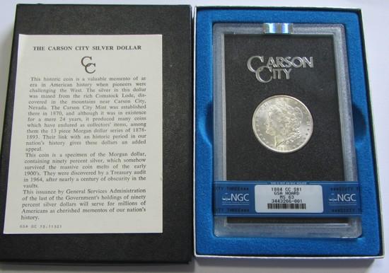 $1 1884 CC CARSON CITY MORGAN GSA NGC 63