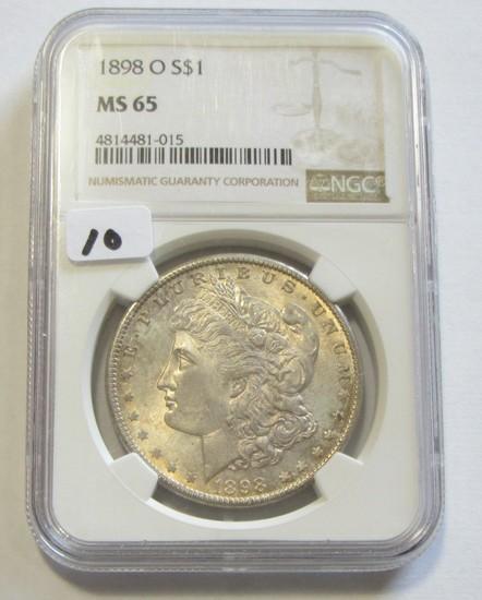 $1 1898-O MORGAN NGC MS 65 GEM