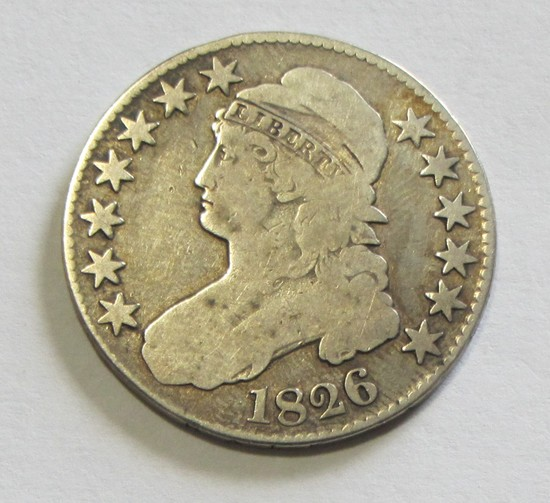 1826 CAPPED BUST HALF