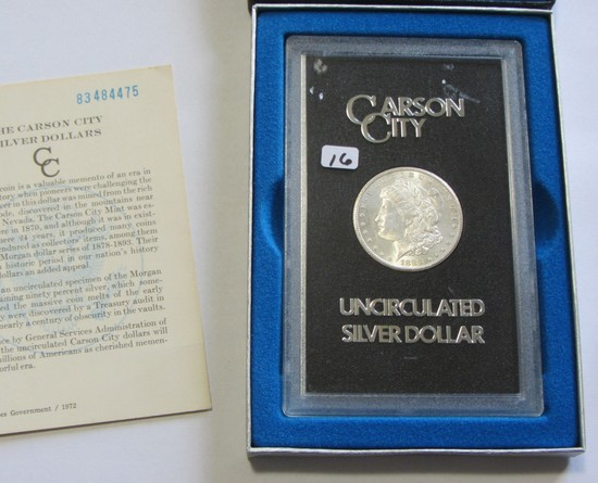 CHATTER FREE COIN SHARP HIGH GRADE $1 1883 CC CARSON CITY MORGAN GSA BOX AN