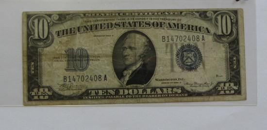 $10 SILVER CERTIFICATE 1934-B