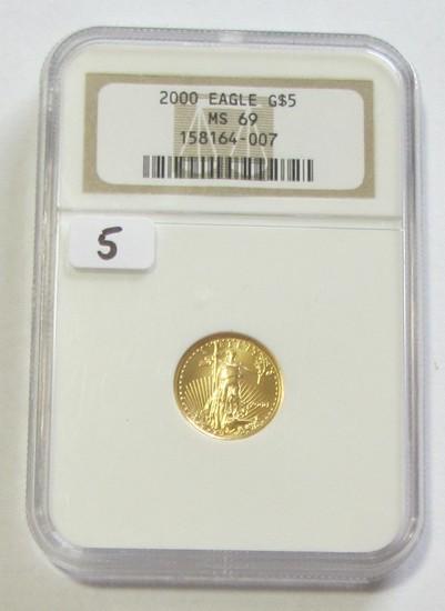 2000 $5 GOLD LIBERTY EAGLE NGC MS 69