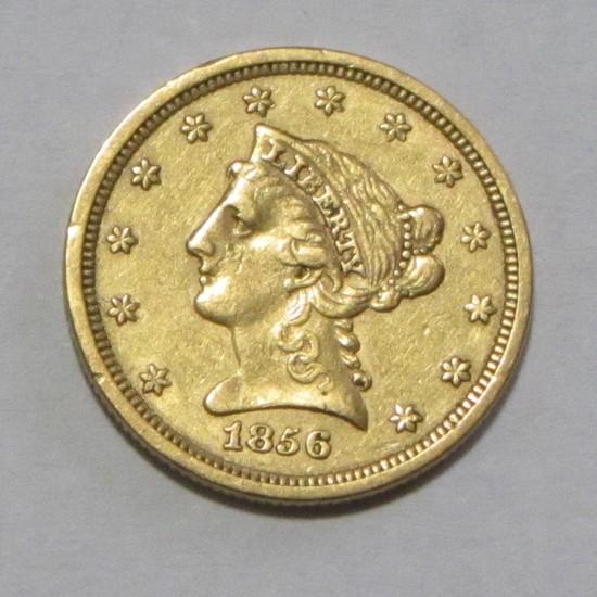 $2.5 GOLD QUARTER LIBERTY EAGLE 1856