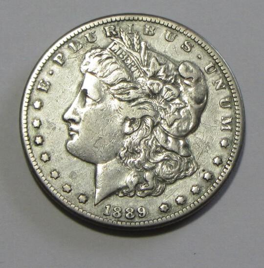 KEY DATE $1 1889 CC CARSON CITY SILVER MORGAN