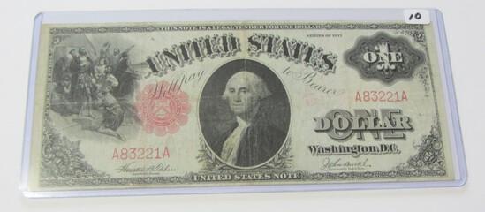 $1 1917 LEGAL TENDER LOW SERIAL NUMBER