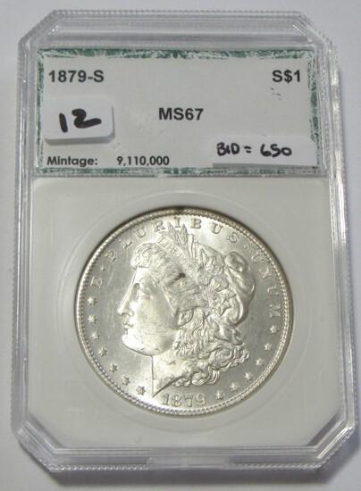 $1 1879-S MORGAN BU SILVER DOLLAR