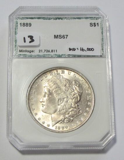 $1 1889 GEM UNCIRCULATED MORGAN
