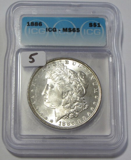 $1 1886 GEM MORGAN ICG MS 65