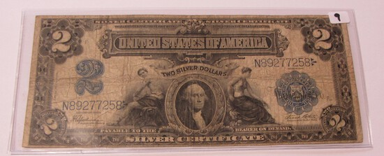 $2 1899 LARGE SIZE SILVER CERTIFICATE