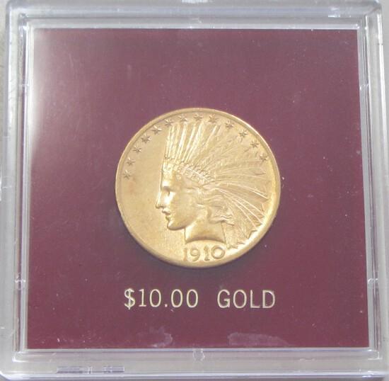 $10 1910-D GOLD EAGLE INDIAN