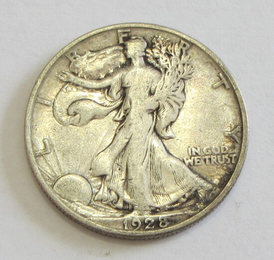 TOUGH DATE 1928-S WALKING LIBERTY HALF