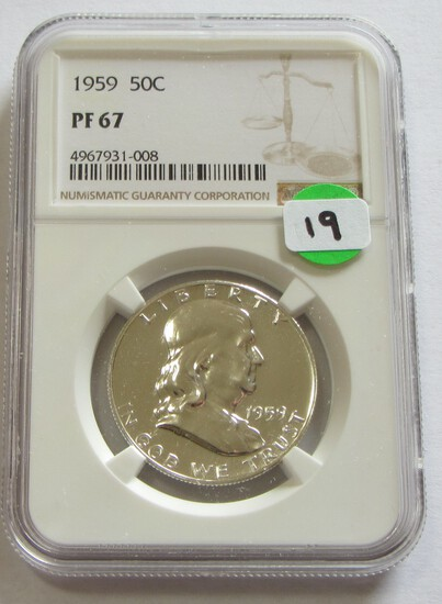 1959 PROOF FRANKLIN NGC 67