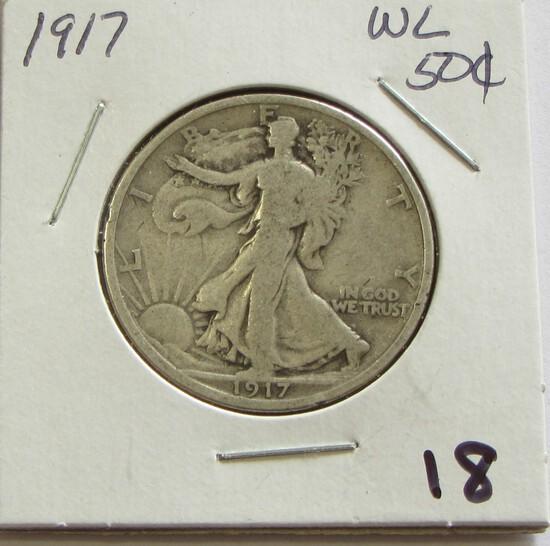 1917 WALKING LIBERTY HALF