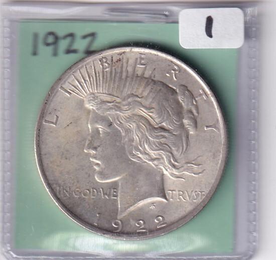 $1 1922 PEACE DOLLAR
