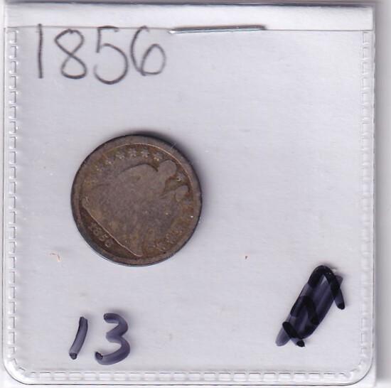 1856 SEATED DIME
