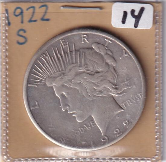 1922-S $1 PEACE