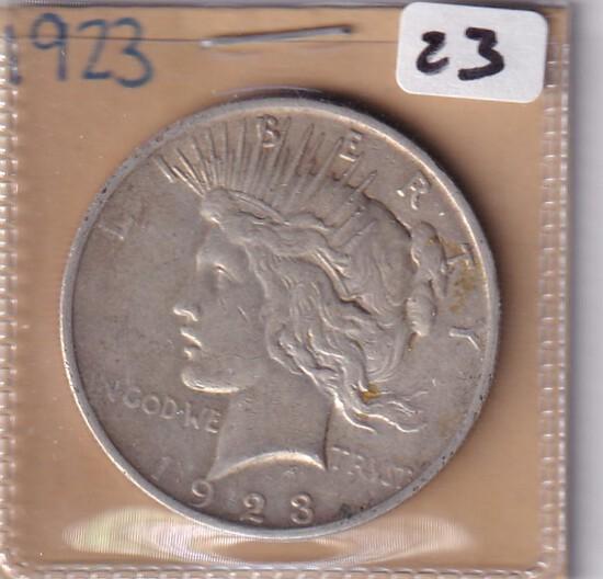 $1 1923 PEACE