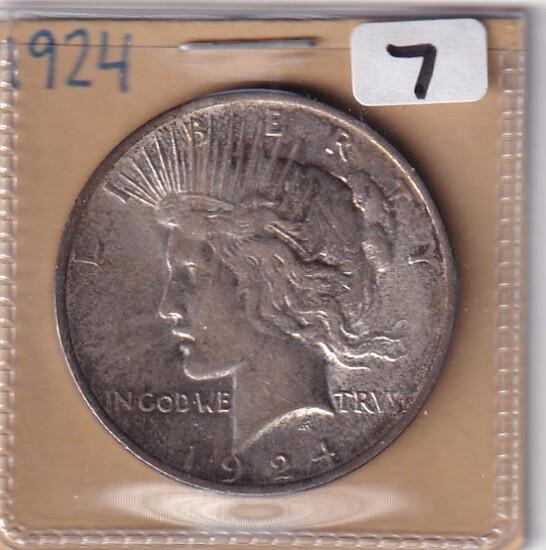 1924 $1 PEACE