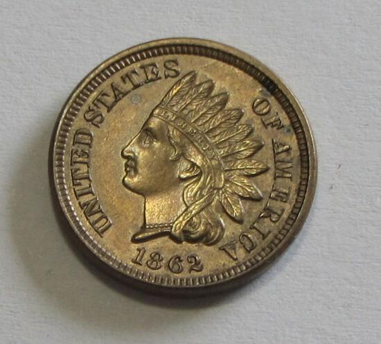 STUNNING 1862 INDIAN HEAD CENT GREAT STRIKE