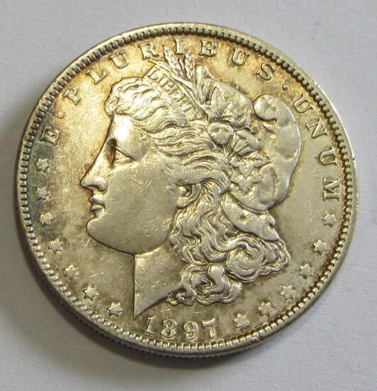 $1 1897-O MORGAN SILVER DOLLAR